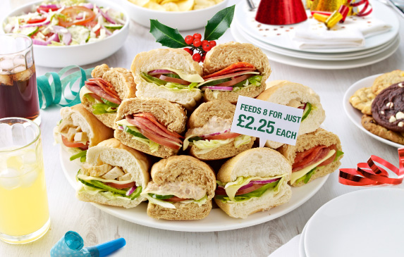 Subway platters - feed 8 for just £2.25 each
