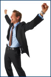 Executive happy