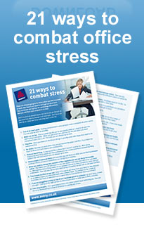 21 ways to combat office stress