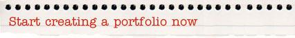 Start creating a portfolio now